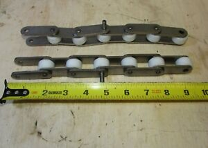 Peer Stainless Steel Conveyor Chain Sections W nylon Rollers 2060ss lot Of 40