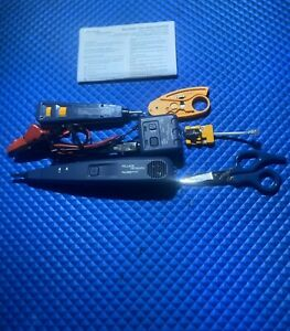 Fluke Networks Pro3000 Tool Kit probe Toner Wire Cutter Tracing Cables Etc