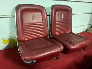 1967 Ford Mustang Deluxe Seats C7zb 67 Gt Fastback Shelby 65b Luxury Interior