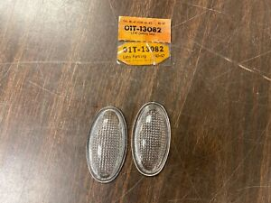 1940 41 Ford Truck 1942 47 Coe Headlight Stand Parking Lamp Lenses Pair Nos 620