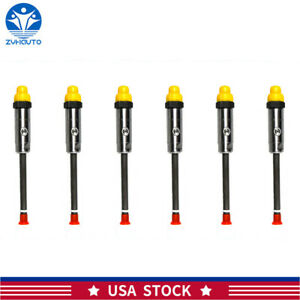 6x Diesel Pencil Fuel Injector Nozzle For Caterpillar Cat 3406b Engine Or3421