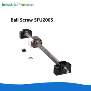 Ball Screw Sfu2005 With Nut 400 500 1000 1600mm Bk bf15 Support Nut Housing