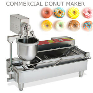 Us Commercial Electric Automatic Doughnut Donut Machine Maker Fryer 3 Mold