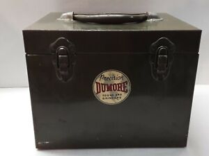 Vtg Dumore 44 011 Precision Tools Grinders Metal Case 10 1 2 x8 3 4 x8 1 4