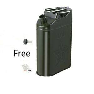 1xportable 10l Gas Gasoline Diesel Petrol Oil Fuel Jerry Cans Caddy Tank Storage