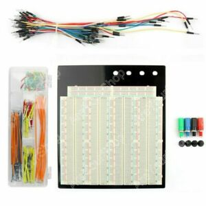 1x Solderless Breadboard 3220 Tie Point Pcb 65pcs 140pcs Jumper Cable Wire Kit