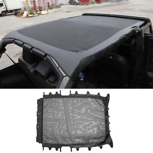 Sunshade Mesh Leather Soft Top Full Roof Cover For Jeep Wrangler Jl 2018 2020