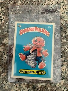 1985 TOPPS GARBAGE PAIL KIDS  #40A UNSTITCHED  MITCH  EXMT   KRC-2844 $9.08