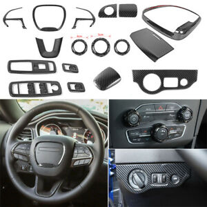Full Kit Interior Accessories For Dodge Charger 15 Steering Wheel Cover Console