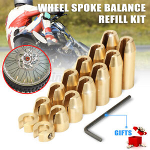 14x Universal Motorcycle Motocross Brass Wheel Spoke Balance Weights Refill Kit $73.98