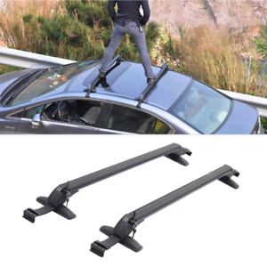 2x Aluminum Car Top Luggage Roof Rack Cross Bar Carrier Adjustable Window Frame