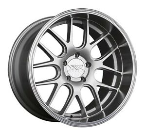 19x10 5 Xxr 530d 5x114 3 20 Silvermachined Lip Rims set Of 4