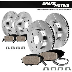 For Mini Cooper Countryman Paceman Front Rear Drilled Brake Rotors Ceramic Pads