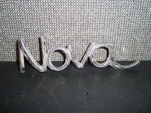 Vintage Nova Car Emblem Metal 5 Long