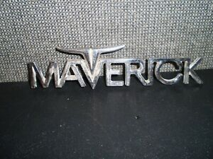 Vintage Maverick Car Emblem Metal 5 Long