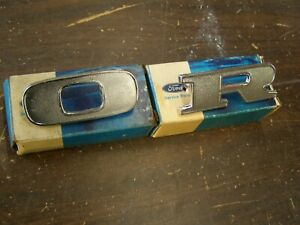 Nos Oem Ford 1970 1971 1972 Truck Pickup Hood Letters 2 Emblems Ornaments F100
