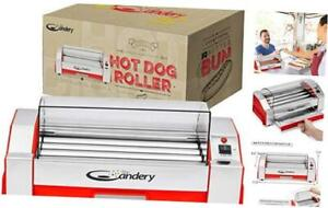 The Candery Upgraded Hot Dog Roller Sausage Grill Cooker Machine 6 Hot Dog C