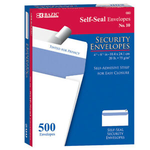 10 Self Seal Security Envelopes