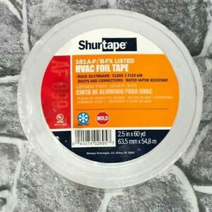 Shurtape Af 099 Aluminum Hvac Foil Tape 2 5 X 60 Yd Flex Air Duct Ductboard New