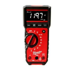 Milwaukee Digital Multimeter Audible Alert Auto Ranging Interchangeable Leads