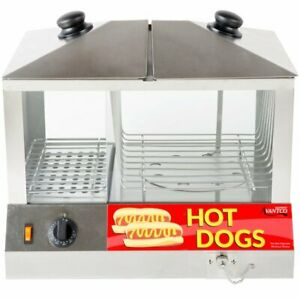 Countertop Commercial Hot Dog Steamer Warmer Cooker Machine Bun Food Electric