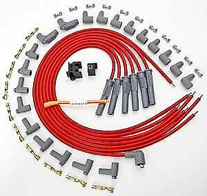 Msd Ignition 31179 Red 2 In 1 Universal 8 5mm Spark Plug Wire Set