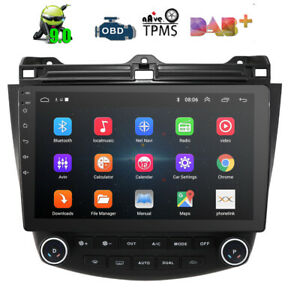 10 1 Android 9 0 Car Stereo Gps Radio Head Unit 4 Core For Honda Accord 2003 07