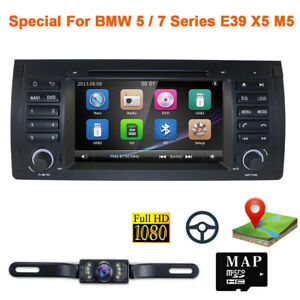 For Bmw E53 X5 E39 Car Stereo Dvd Player 7 Radio Gps Navigation Bluetooth 1080p