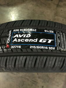 4 New 215 60 16 95v Yokohama Avid Ascend Gt Tires
