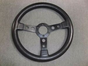 Rare Made In Italy Vintage Leather Steering Wheel 350mm porsche alfa ferrari