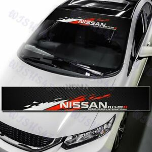 Windshield Carbon Fiber Vinyl Banner For Nismo Nissan Front Window Decal Sticker