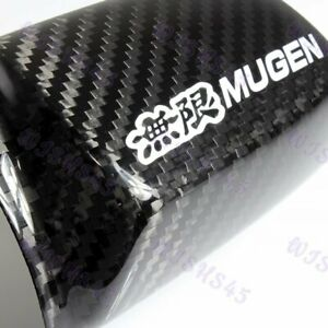 Mirror Cover Jdm Mugen Real Carbon Fiber For Accord Euro Civic Crv Fit Odyssey