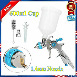 Mini Air Spray Gun Hvlp 1 4mm Nozzle Car Paint Sprayer Spot Repair 600ml Cup New