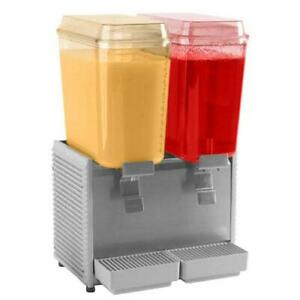 Crathco D25 3 2 Bowl Refrigerated Beverage Dispenser With S s Side Panel