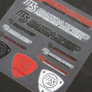 Mazdaspeed Reflective Car Window Vinyl Decal Sticker For Mazda 12pcs Set