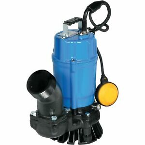 Tsurumi Submersible Sand trash Water Pump 3660gph 1hp 3in Port 110v hsz3 5s