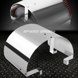 Stainless Steel 3 3 5 Cone Style Chrome Intake Filter Cover Reduce Heat Shield