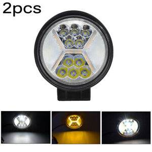 2pcs Car Pickup Round Led Work Lights Lamp Waterproof Off road Accessories Tool