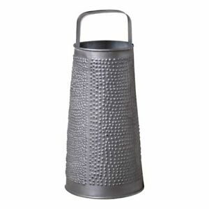 Country New Round Grater Accent Light In Antique Tin