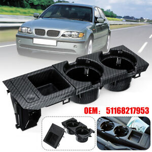 Carbon Fiber Center Console Cup Coin Holder Storing Box For Bmw E46 325i