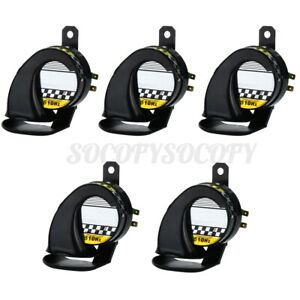 5x Universal Snail Air Horn Siren Loud 130db Waterproof For Truck Motorcycle 12v