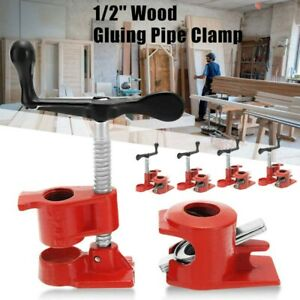 4 Pack 1 2 Wood Gluing Pipe Clamp Set Heavy Duty Pro Woodworking Cast Iron 2020