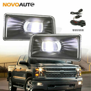 Pair Of Smoked Bumper Fog Lights For Chevy Silverado 1500 2500 3500 Hd Front