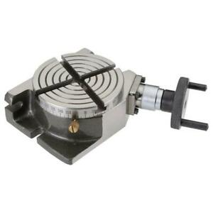 Shop Fox M1076 4 Inch 4 Slot Worm Gear Drive Adjustable Rotary Table