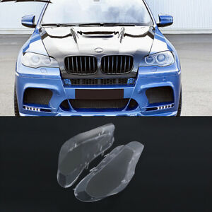 Left Right Headlight Cover Lamp Lens Lampshade For Bmw X5 E70 2007 2013