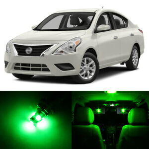 10 X Green Led Interior Light Package For 2012 2019 Nissan Versa Pry Tool