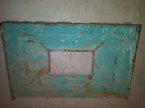 1928 1929 Model A Ford Closed Cab Pickup Rear Window Panel