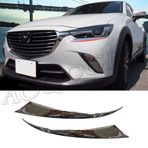 For Mazda Cx 3 2016 20 Chrome Front Headlight Eyelid Moulding Cover Trim Sticker