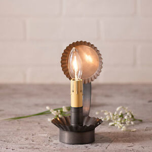 Cabin Chamberstick New Small Accent Light In Blackened Tin