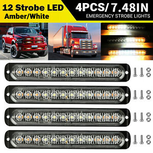 20x Smoked Round Side Marker Lights Car Truck Trailer Amber 3 4 Led Bullet Ligh